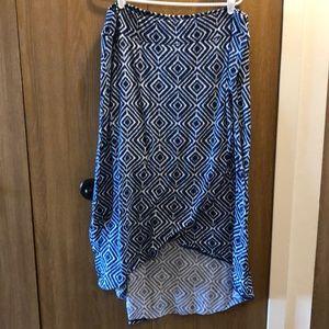 Dresses & Skirts - Blue and white hi-low skirt